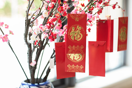 Plum Blossom「Red envelopes and plum blossom」:スマホ壁紙(15)
