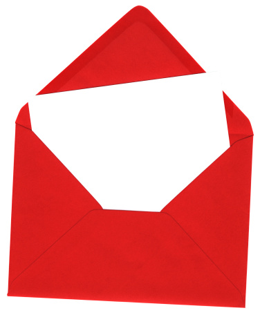 Christmas card「Red envelope and blank white card」:スマホ壁紙(2)
