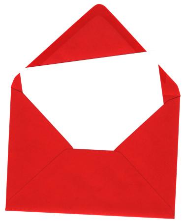 Invitation「Red envelope and blank white card」:スマホ壁紙(14)