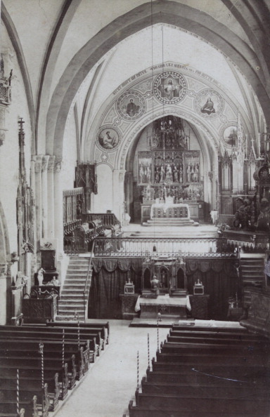 1880-1889「Chur (Coire) / Graubünden. Interior Of The Cathedral With Winged Altar. About 1885. Photograph.」:写真・画像(7)[壁紙.com]
