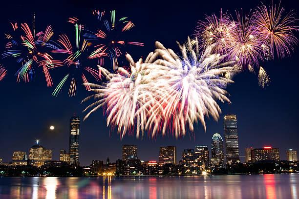 Boston July 4th National Day Fireworks:スマホ壁紙(壁紙.com)