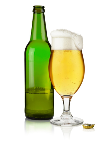 Design Element「Bottle of Beer with and  full glass」:スマホ壁紙(1)