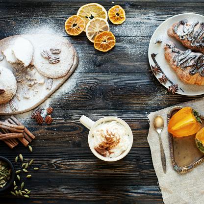 柿「スイートの朝食 」:スマホ壁紙(16)