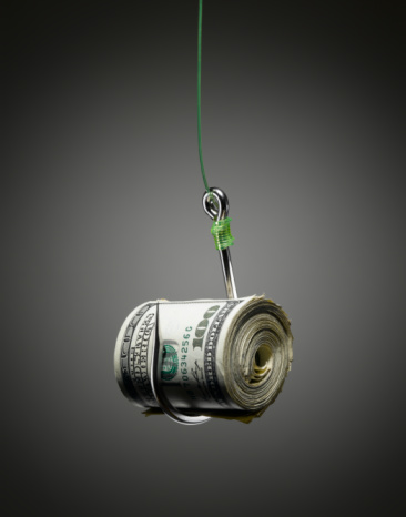 American One Hundred Dollar Bill「Money baited on a Hook.」:スマホ壁紙(1)