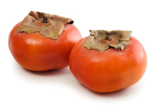 柿「富有柿 Persimmons 2 つの白で分離」:スマホ壁紙(18)