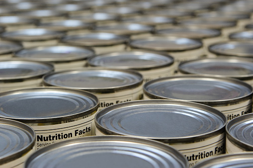 For Sale「A group of food cans with the nutrition fact label showing」:スマホ壁紙(10)