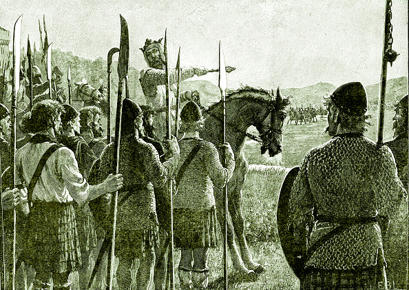 Circa 14th Century「Battle of Bannockburn - Robert the Bruce reviewing his troops」:写真・画像(4)[壁紙.com]