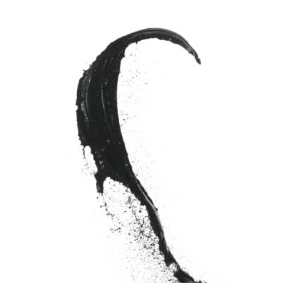 Contrasts「Splash of black paint on white background」:スマホ壁紙(4)