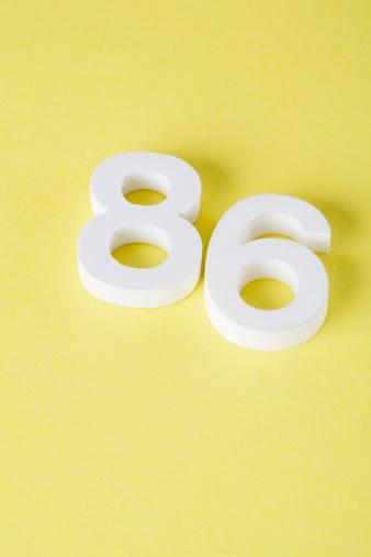 数字の8「Number 86」:スマホ壁紙(1)