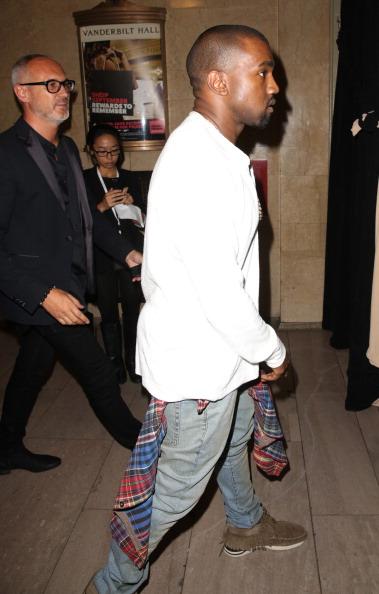 Kanye West - Musician「Diesel Black Gold - Front Row - Mercedes-Benz Fashion Week Spring 2014」:写真・画像(12)[壁紙.com]