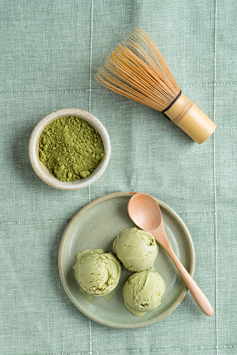 アイスクリーム「Green tea icecream and Chasen tea whisk」:スマホ壁紙(1)