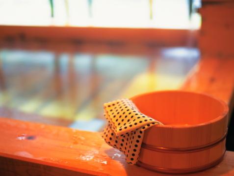 温泉「Hinoki bathtub」:スマホ壁紙(2)