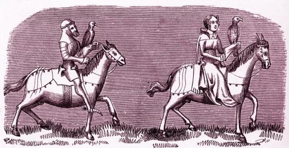 Circa 14th Century「Medieval Lady setting out hawking」:写真・画像(0)[壁紙.com]