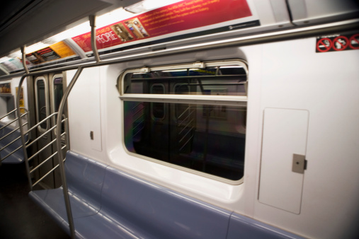 Railway「One side of the interior of a subway car」:スマホ壁紙(14)