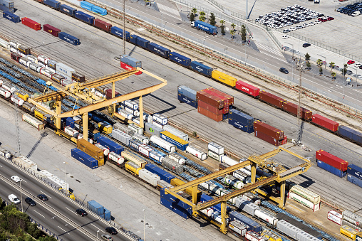 Skating「Freight Trains and Containers in Port of Barcelona, Spain」:スマホ壁紙(4)