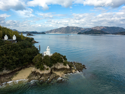 A Helping Hand「Aerial images of a lighthouse along a sandy coastline in Western Japan」:スマホ壁紙(13)