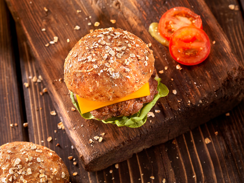 Bun - Bread「CheeseBurger with Lettuce and Tomato」:スマホ壁紙(10)