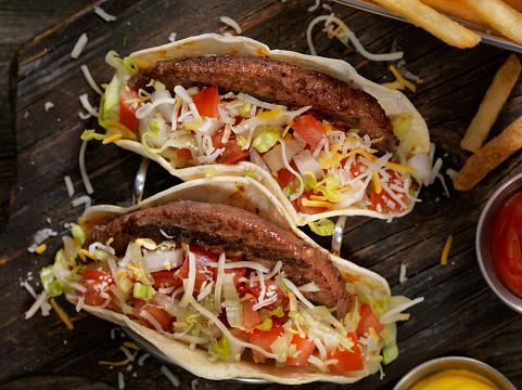 Taco「Cheeseburger Tacos with Fries」:スマホ壁紙(9)