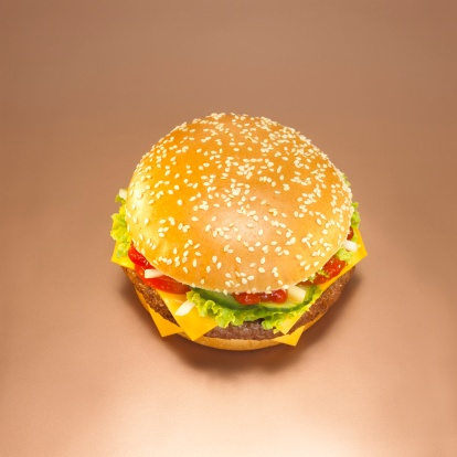 Hamburger「Cheeseburger, close-up, elevated view」:スマホ壁紙(19)