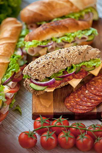Bun - Bread「group of tasty sandwiches」:スマホ壁紙(13)
