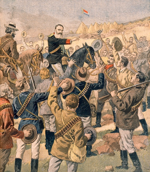 Chromolithograph「The War In The Transvaal:  General Joubert Rallying The Boers」:写真・画像(18)[壁紙.com]