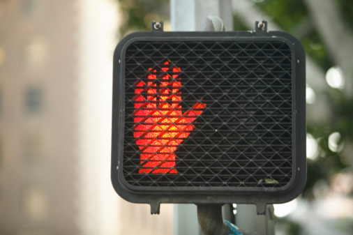 Human Hand「Do not walk sign at crosswalk」:スマホ壁紙(17)