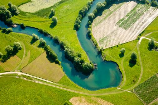 Patchwork Landscape「Farmland patchwork, aerial view」:スマホ壁紙(5)