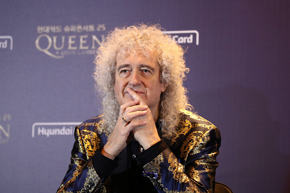 Brian May「Queen Holds Press Conference In Seoul」:写真・画像(0)[壁紙.com]