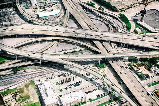 Elevated Road「Urban Freeways Connecting - Aerial View」:スマホ壁紙(15)