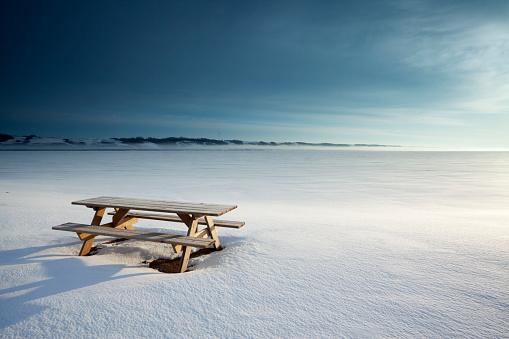 Picnic Table「Little Manitou Lake Saskatchewan Canada」:スマホ壁紙(6)