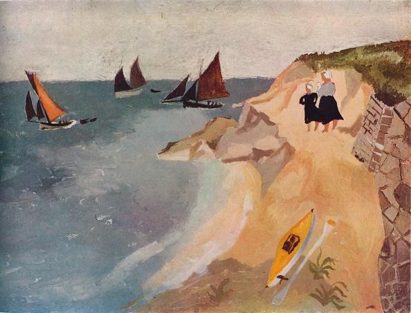 明るい色「Seascape, Treboul, c1929, (1938). Artist: Christopher Wood」:写真・画像(10)[壁紙.com]