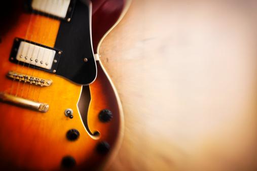 Rock Music「Dreamy jazz blues guitar on wood」:スマホ壁紙(7)