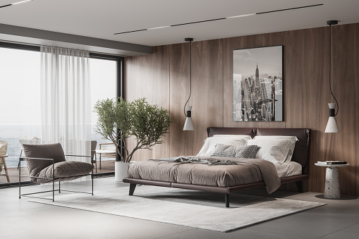 Hotel Room「Luxurious and elegant bedroom interiors」:スマホ壁紙(16)