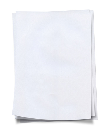 Stack「Stack of neat, fresh, blank white paper」:スマホ壁紙(18)