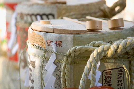 Sake「Japan, saki barrels, close-up」:スマホ壁紙(18)