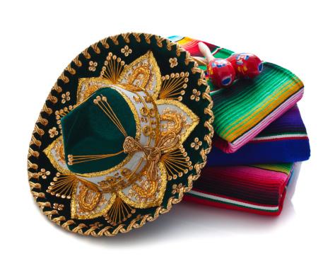 ベロア「メキシコの帽子、ブランケットと Maracas」:スマホ壁紙(0)