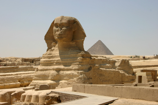Ancient Civilization「The Sphinx with a pyramid」:スマホ壁紙(11)