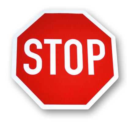 Waiting「Stop-sign, close-up」:スマホ壁紙(6)