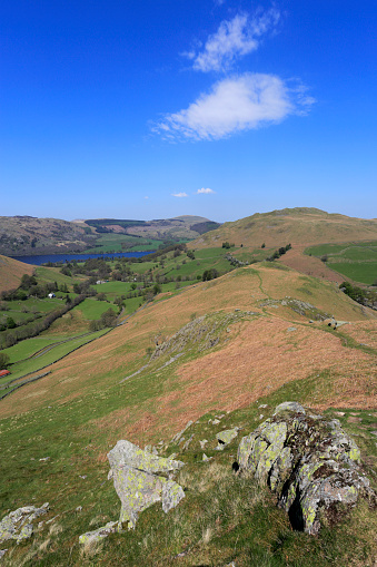 Color Image「View over Beda fell, Martindale, Lake District National Park」:スマホ壁紙(3)