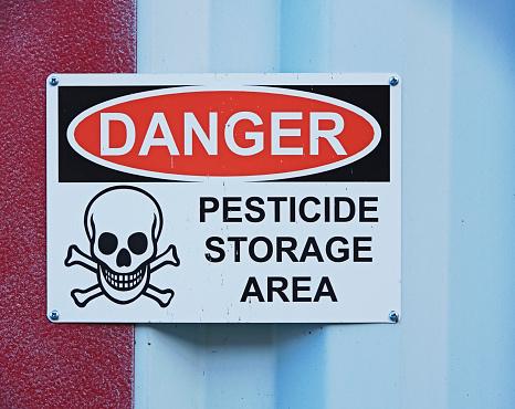 Insecticide「Danger Pesticide Storage Area Sign」:スマホ壁紙(0)