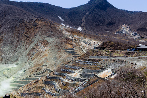 Japan「Active Sulphur Vents and Hot Springs in Owakudani, Volcanic Valley, Hakone, Japan」:スマホ壁紙(7)