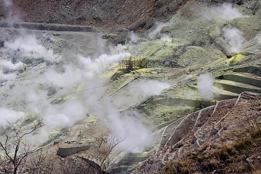 Japan「Active Sulphur Vents and Hot Springs in Owakudani, Volcanic Valley, Hakone, Japan」:スマホ壁紙(6)