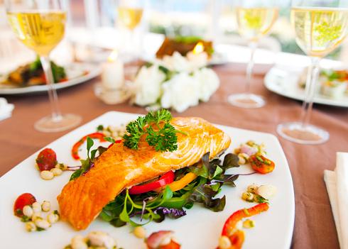 Salmon - Seafood「Dinner」:スマホ壁紙(1)