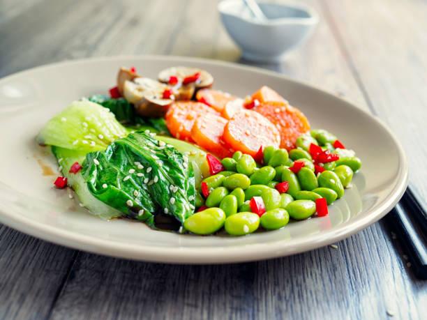 Healthy steamed vegetable:スマホ壁紙(壁紙.com)