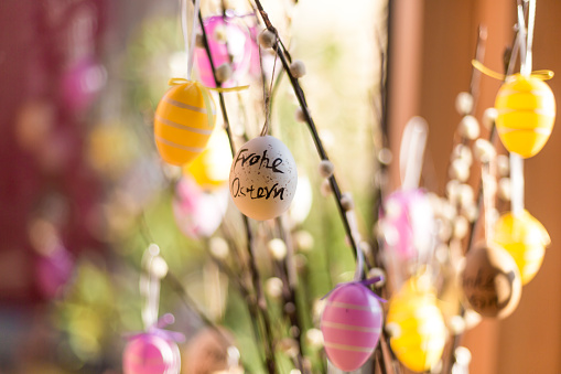 Easter「Twigs of pussy willows decorated with Easter eggs」:スマホ壁紙(9)