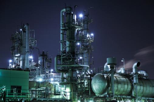 Factory night view「Transformer substation,Japan,Mie」:スマホ壁紙(13)