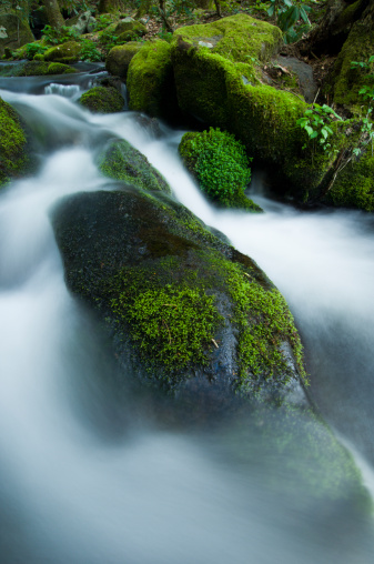 Roaring Fork River「River cascading down rocks, elevated view, (blurred motion)」:スマホ壁紙(9)