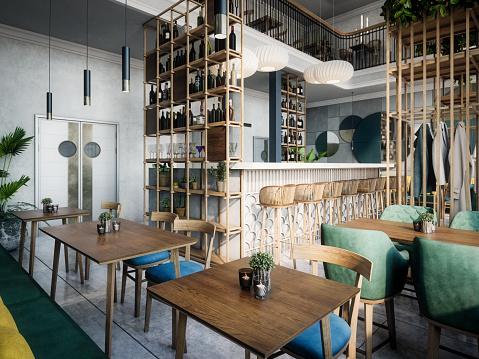 Coffee「Modern Indoor Café」:スマホ壁紙(15)