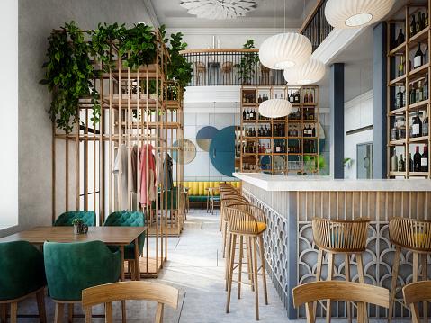 Design「Modern Indoor Café」:スマホ壁紙(19)