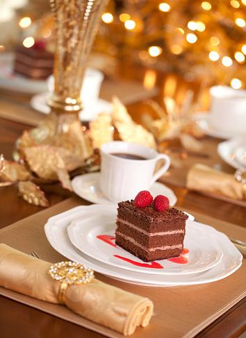 クリスマスケーキ「チョコレートケーキ」:スマホ壁紙(13)